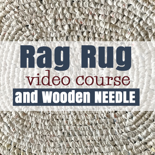 Rag Rug Video Course and needle