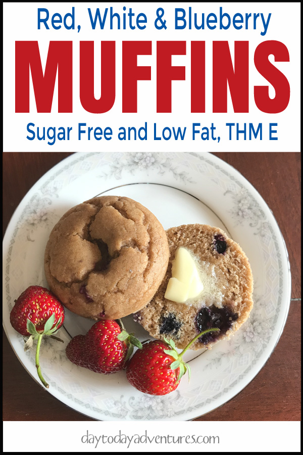 Love strawberries and blueberries?  Love a healthy yummy muffin?  Check out these Red White and Blueberry muffins: Sugar Free and Low Fat