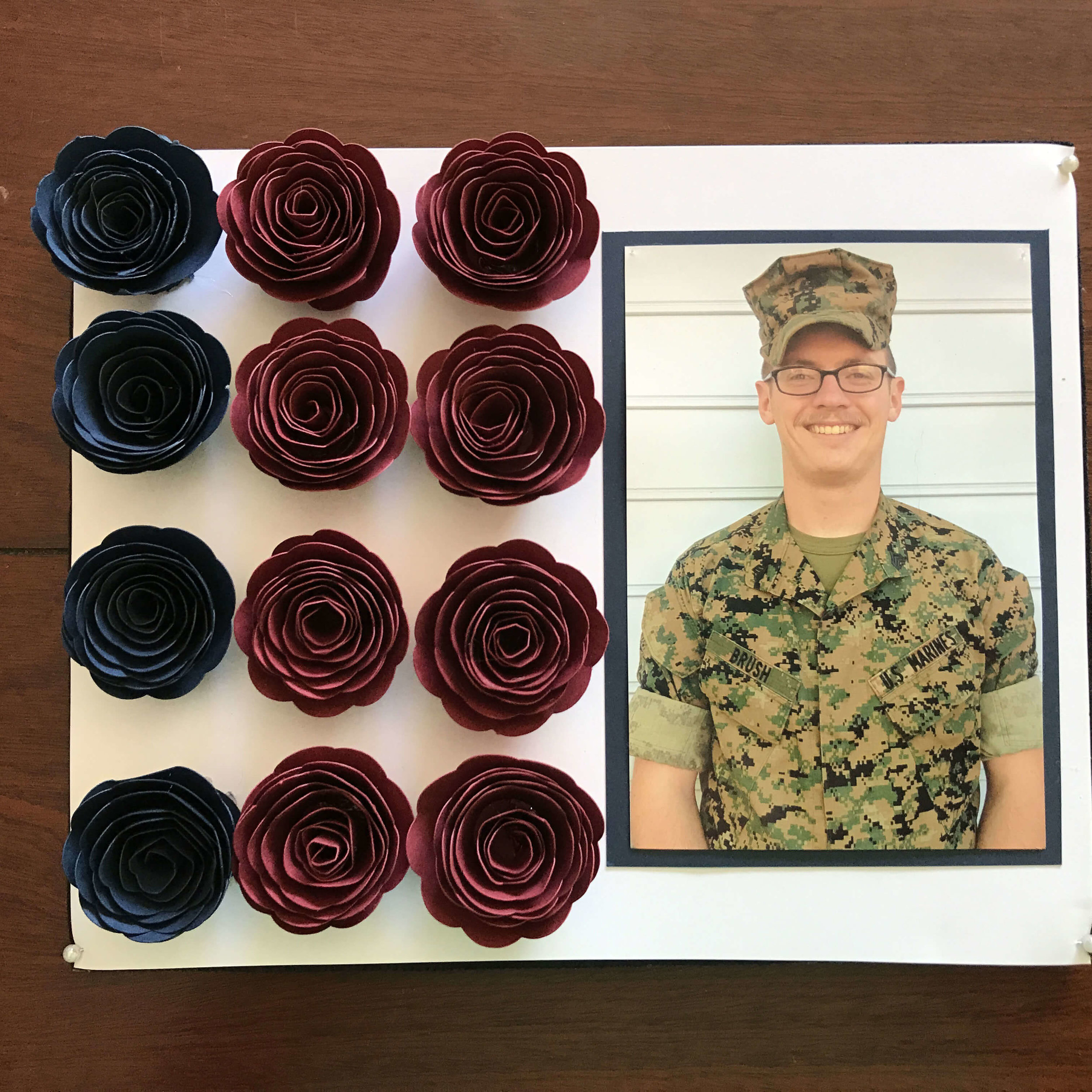 How to make a Patriotic Paper Flower and Star Shadowbox
