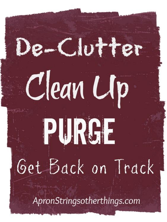 Declutter Clean Up Purge