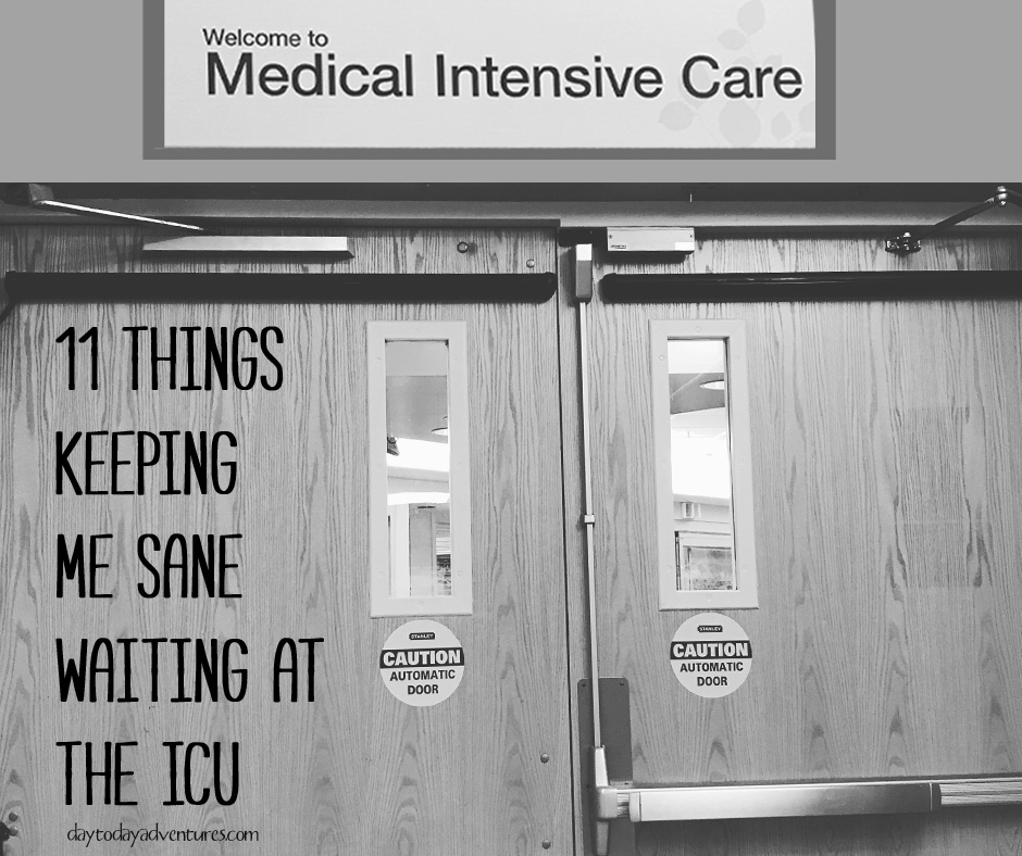 Ever had to wait at the hospital?  It is so hard.  After two weeks of waiting this is my list of MUST haves that are keeping me sane.