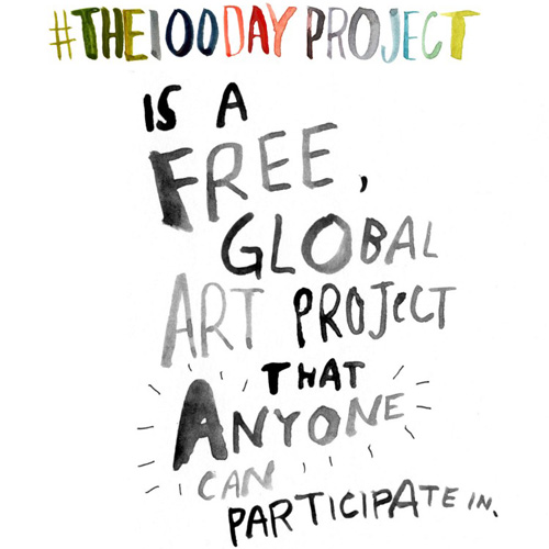 The 100 Day Project for Creatives week 3