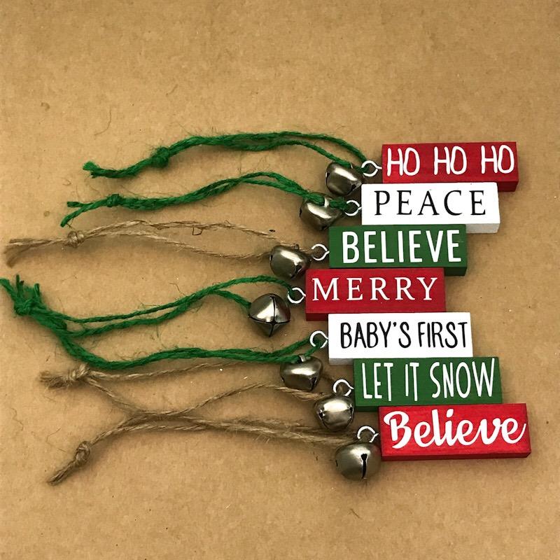 DIY Personalized Christmas Jenga Ornaments