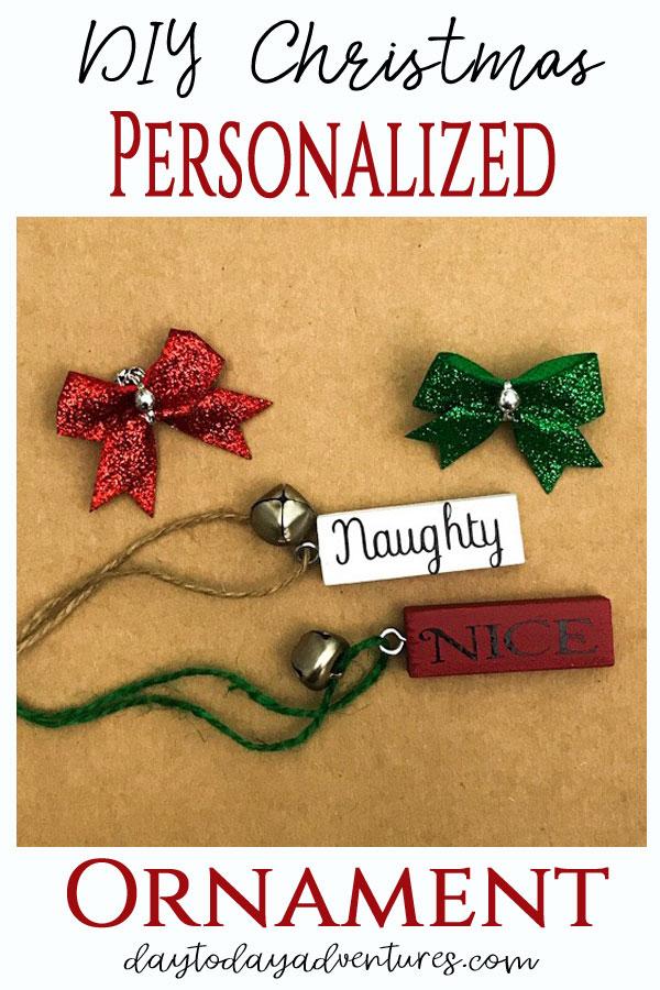 DIY Christmas Personalized Jenga Ornament