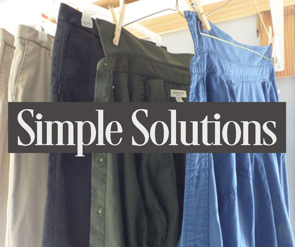 Simple Solutions - How to avoid ironing