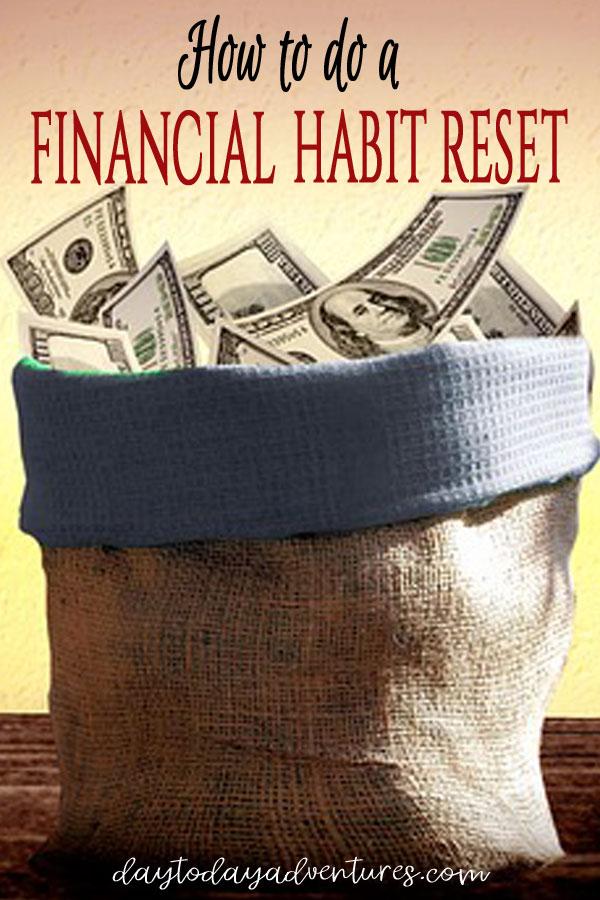 How to do a financial habit rest #finances #money #budgeting