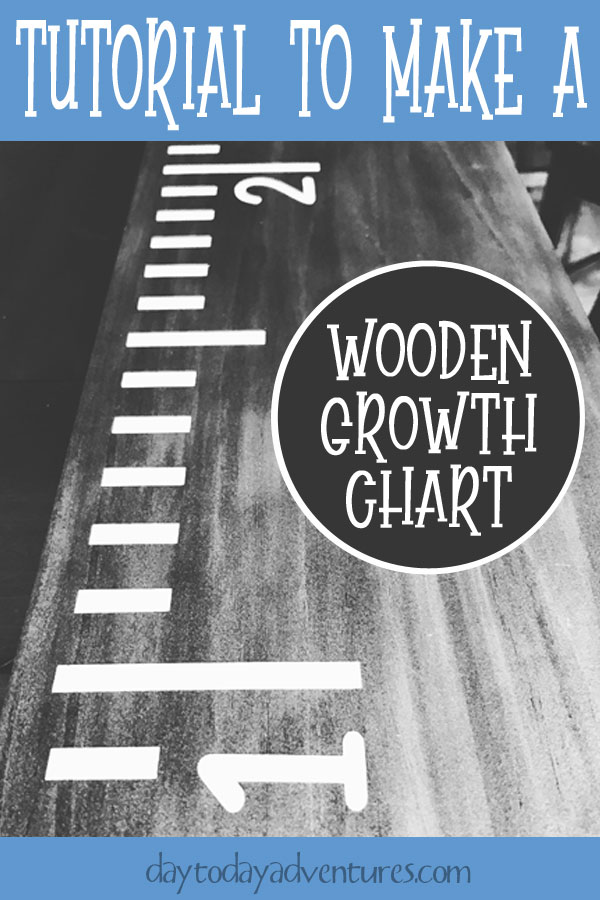 Tutorial to make a DIY Growth Chart