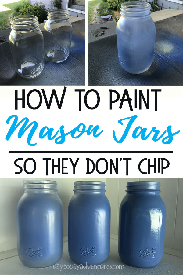 How to paint mason jars so they don't chip #masonjar #blessyoujar