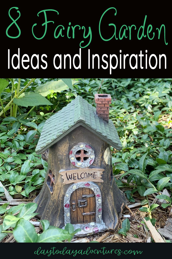 8 Fairy Garden Ideas and Inspiration for creating your own DIY fairy garden! #fairygardenideas #fairygardendiy