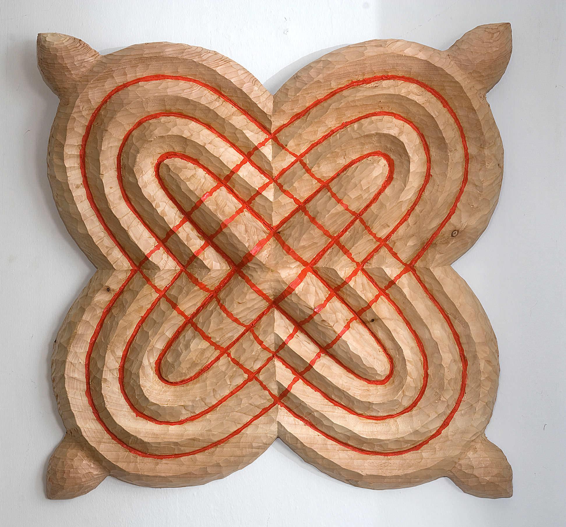 No Titel    Relief made of western red cedar wood, 62 cm X 62 cm, 2014