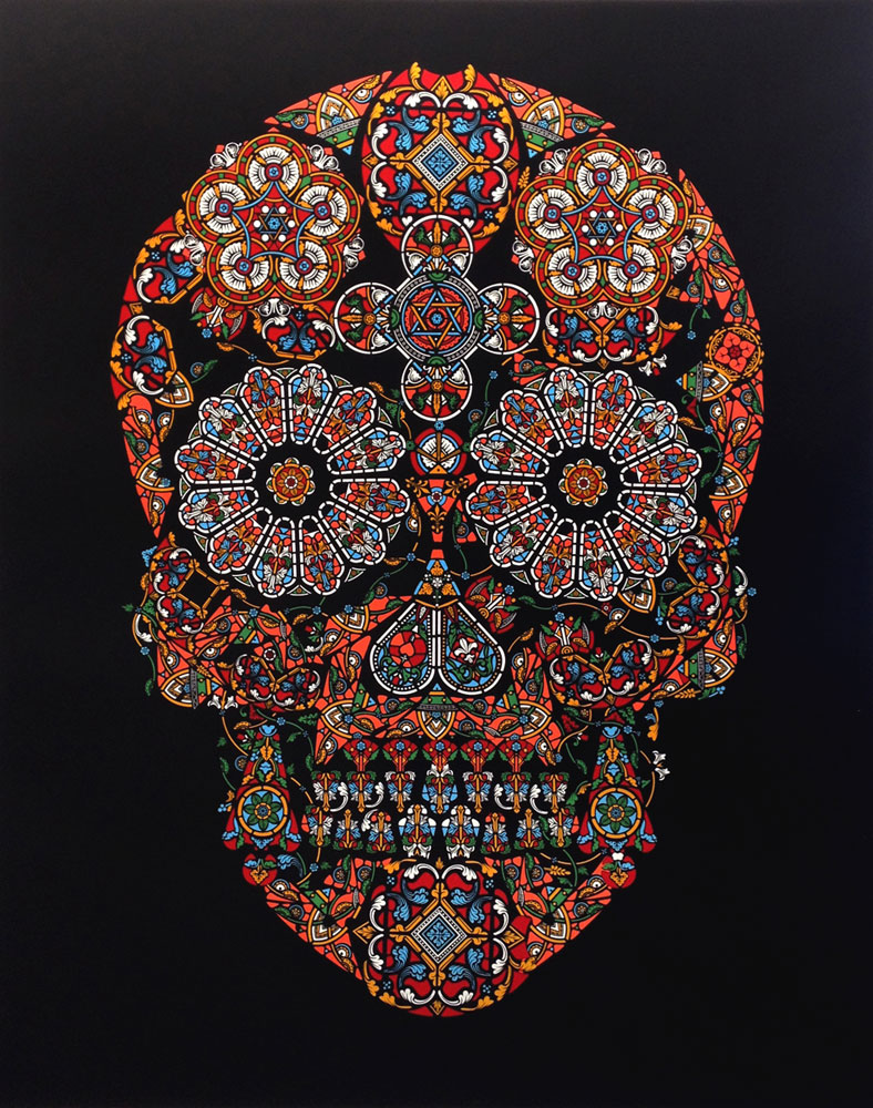 Stain Glass Skull