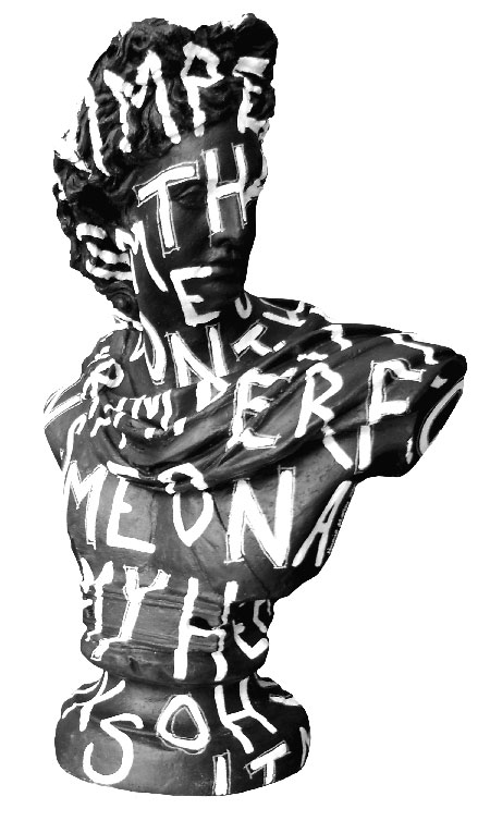 """""""Black and white imperfection bust"""""""