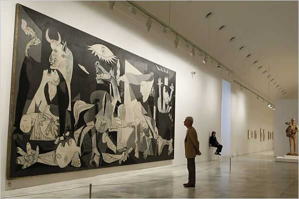 The Reina Sofia Museum, Guernica by Pablo Picasso (image source: Nytimes)