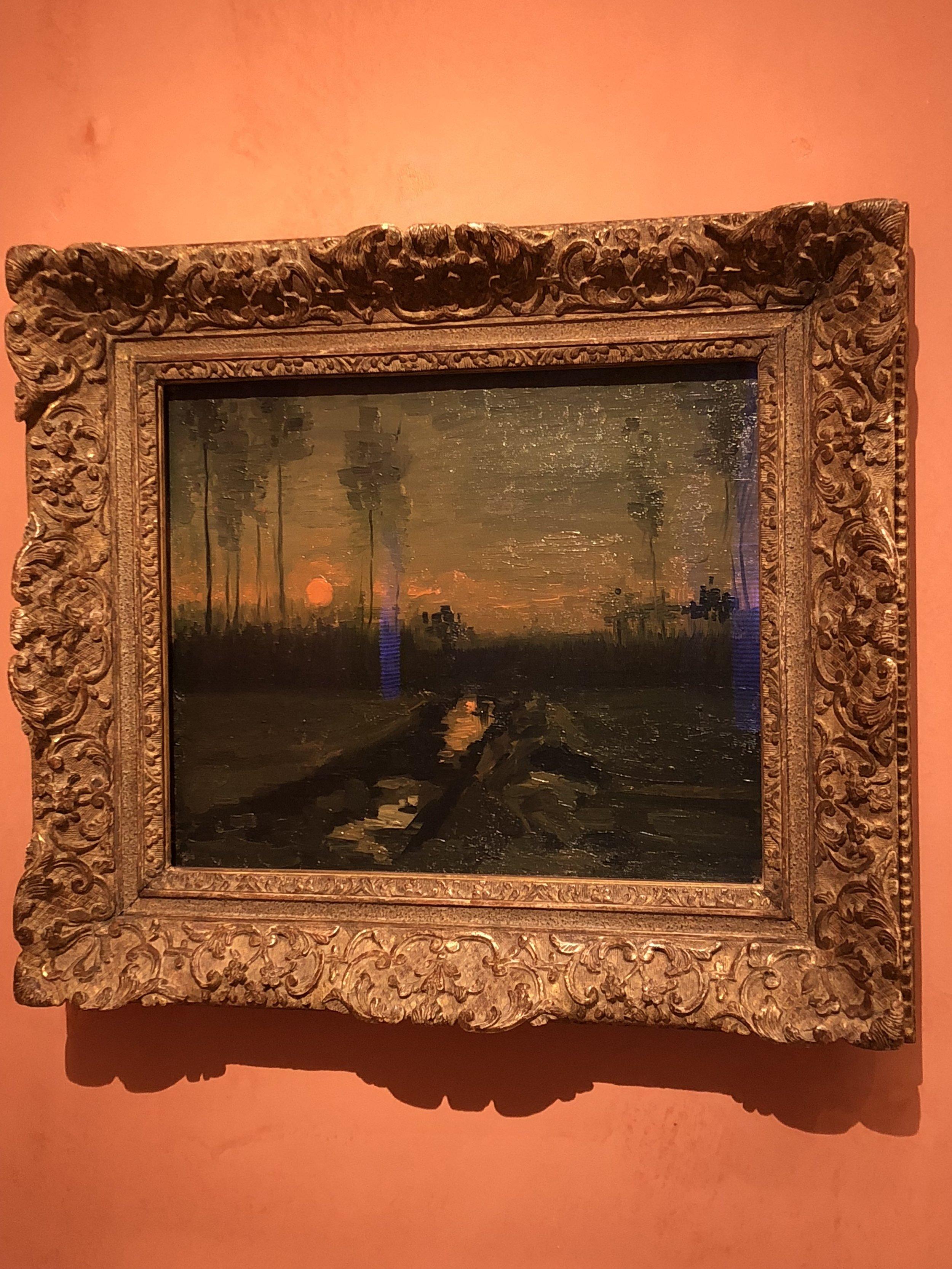 Vincent Van Gogh  Evening Landscape, 1885