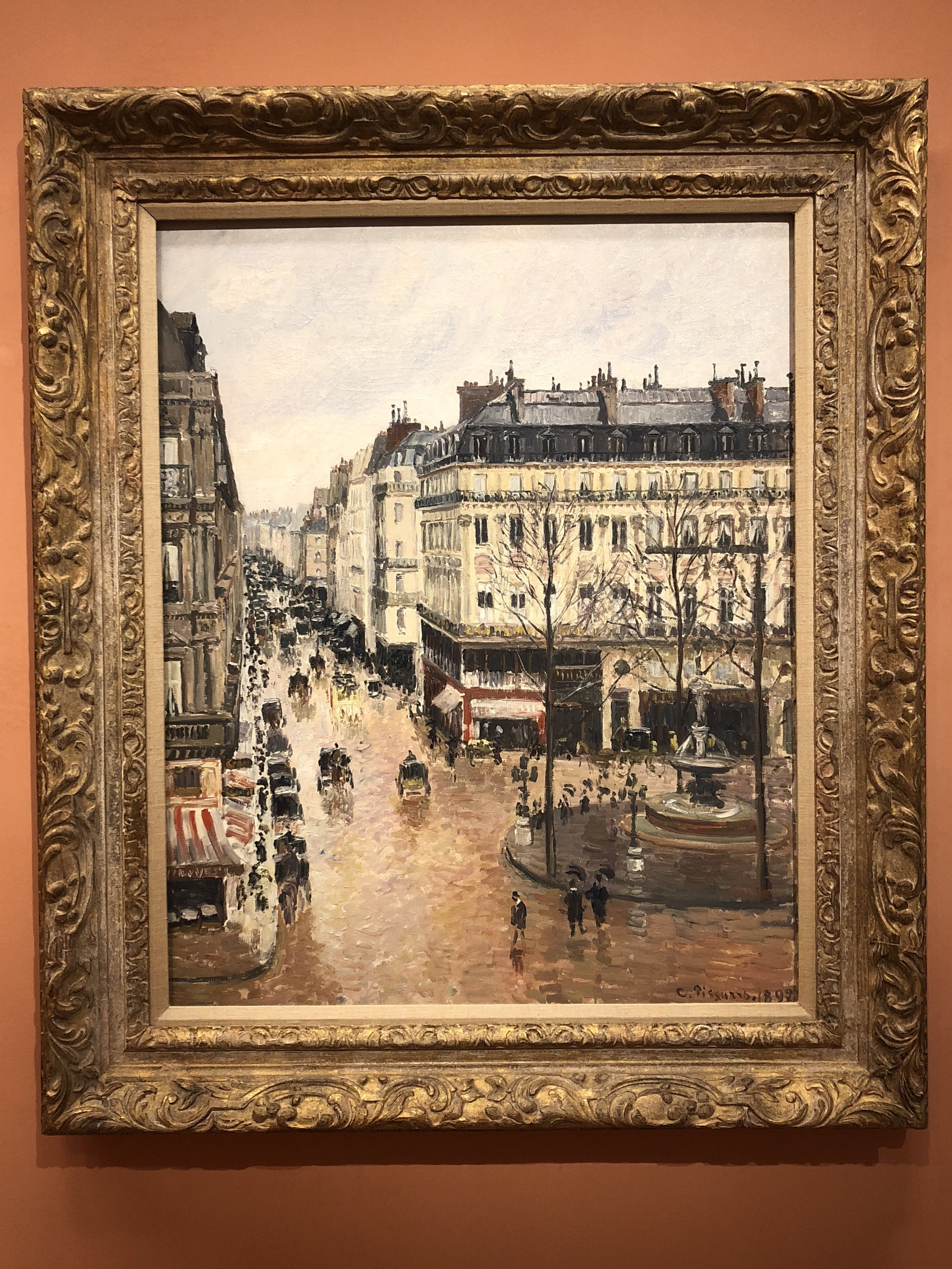 Camille Pissarro  Rue Saint-Honore in the Afternoon, Effect of Rain, 1897