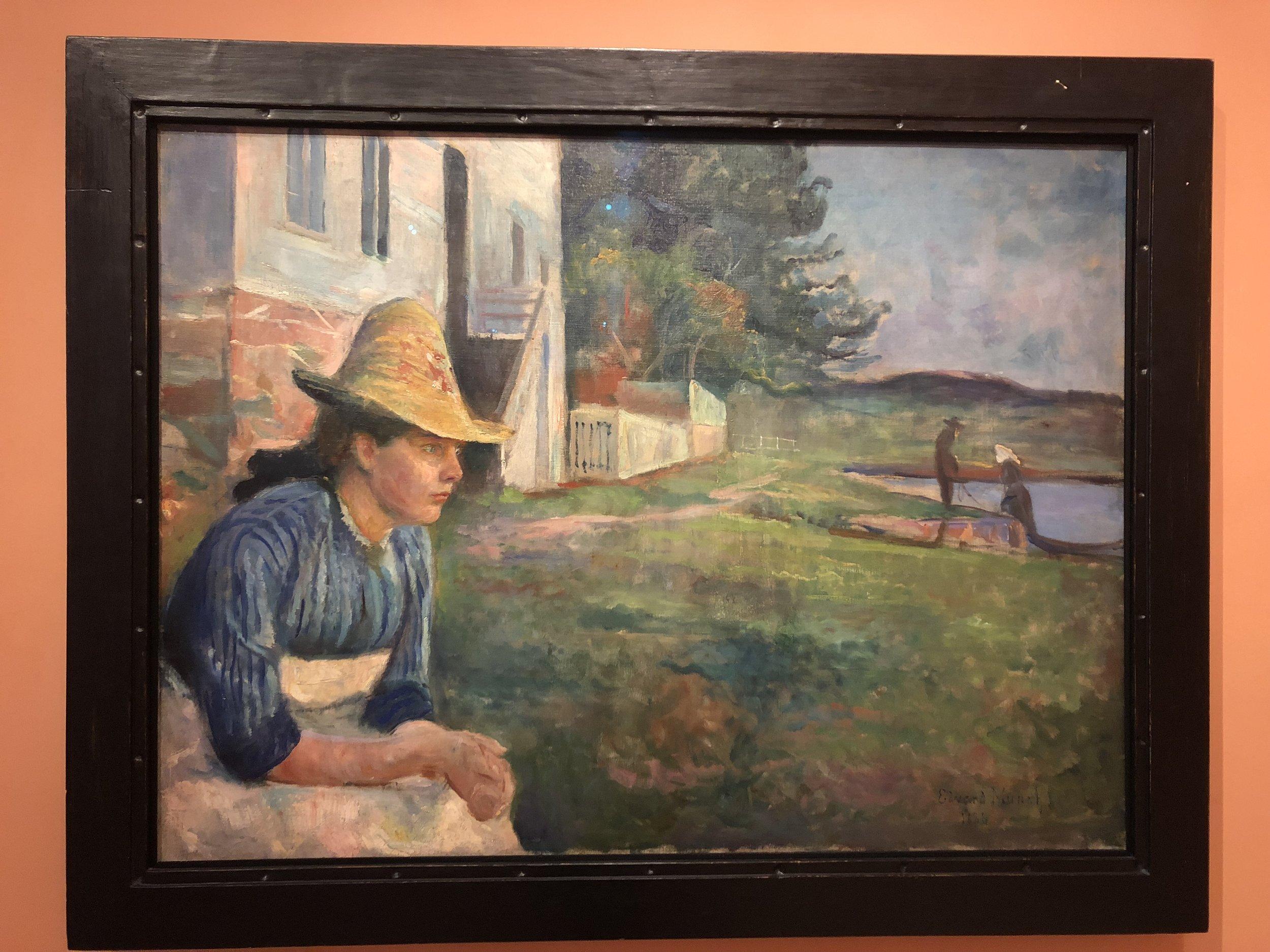 Edvard Munch  Evening, 1888