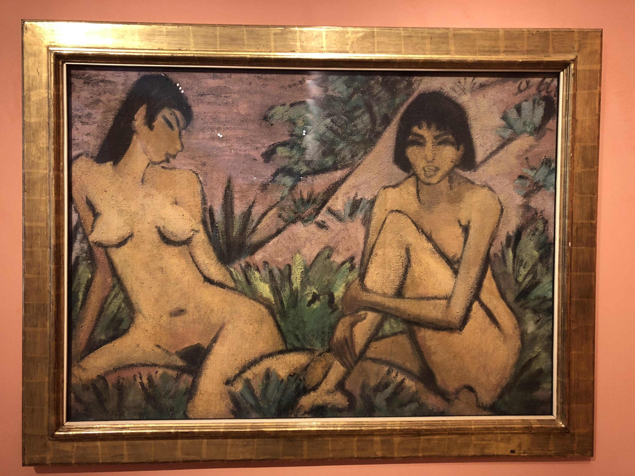 Otto Muller  Two Female Nudes in a Landscape, 1922