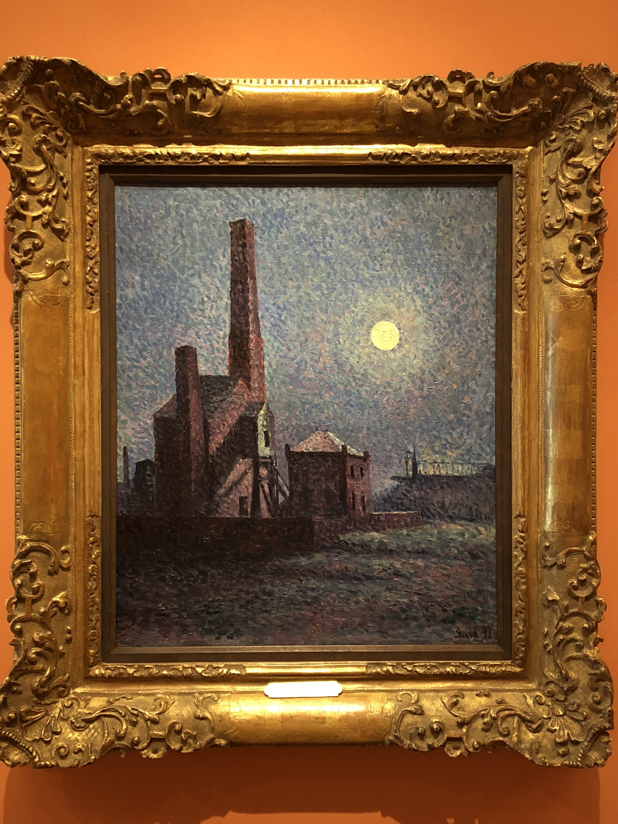 Maximillien Luce  Factory in the Moonlight, 1898