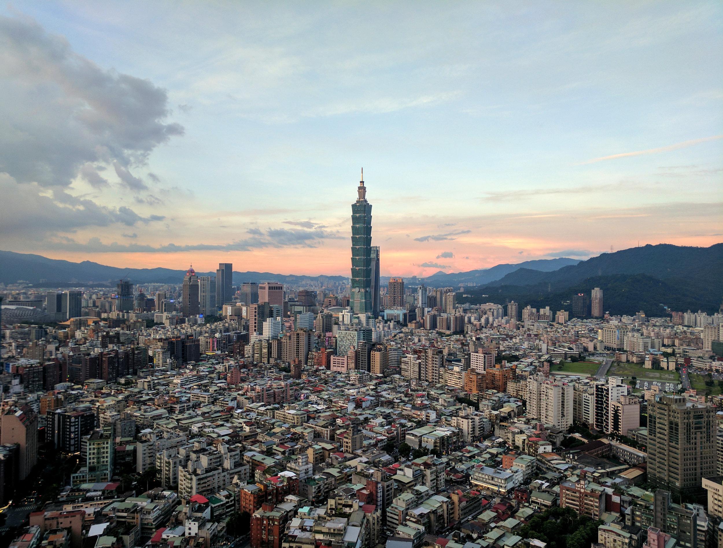 Taipei 101 from Shangri-La Hotel | Taipei, Taiwan