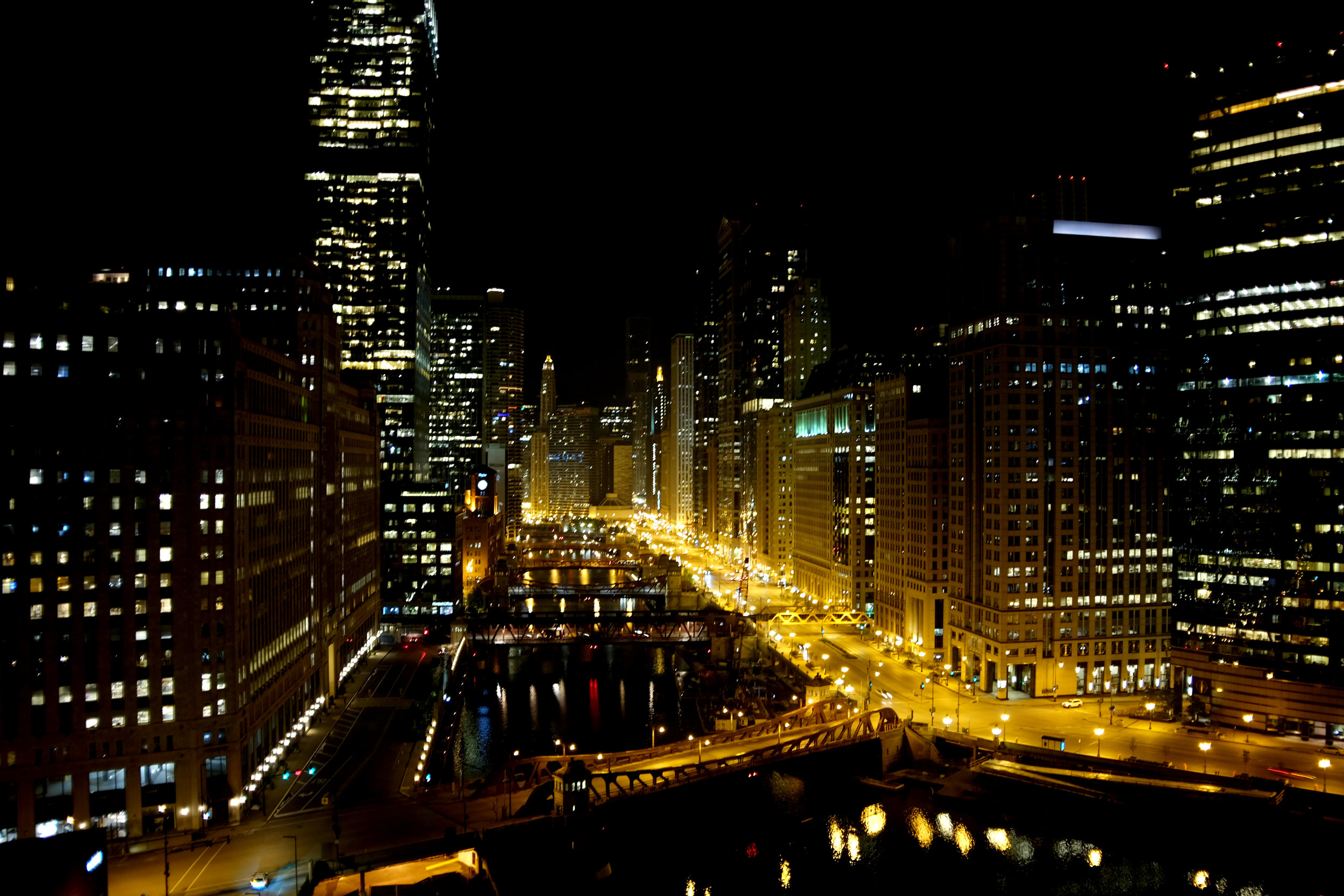 Chicago River from Wolf Point| Chicago, IL, USA