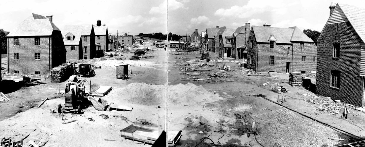During construction, early 1930s