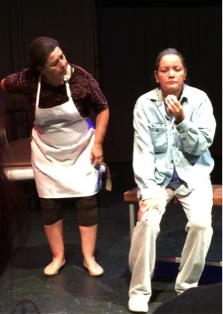 Darlene Auger as Auntie Soos and Gloria Okeynan as Mery.    Photo: Annie Smith