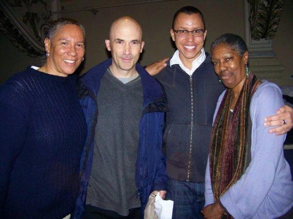 Sharon Bridgforth, Erik Ehn, DAJ, and Robbie McCauley @ Rites and Reason Theatre, Providence, RI.