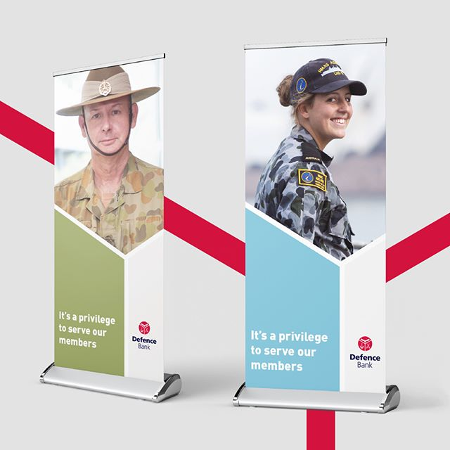 A brand refresh we created for the Defence Bank, one of Australia's largest member-owned banks who offer financial products and services to the Australian Defence Force.