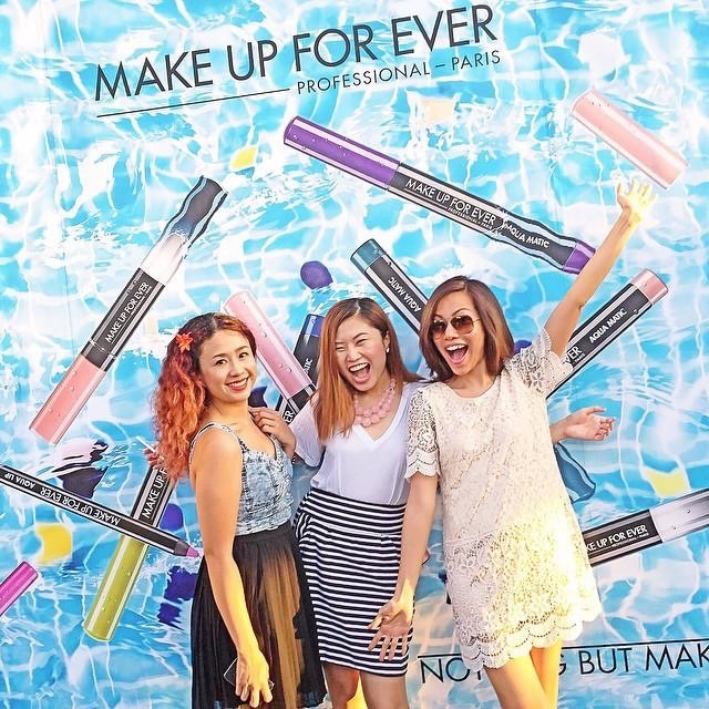 My BDJ Editor,  Kate  and former BDJ Beauty Minister  Nicole  and me at the Make Up For Ever launch for Aquamatic pencils