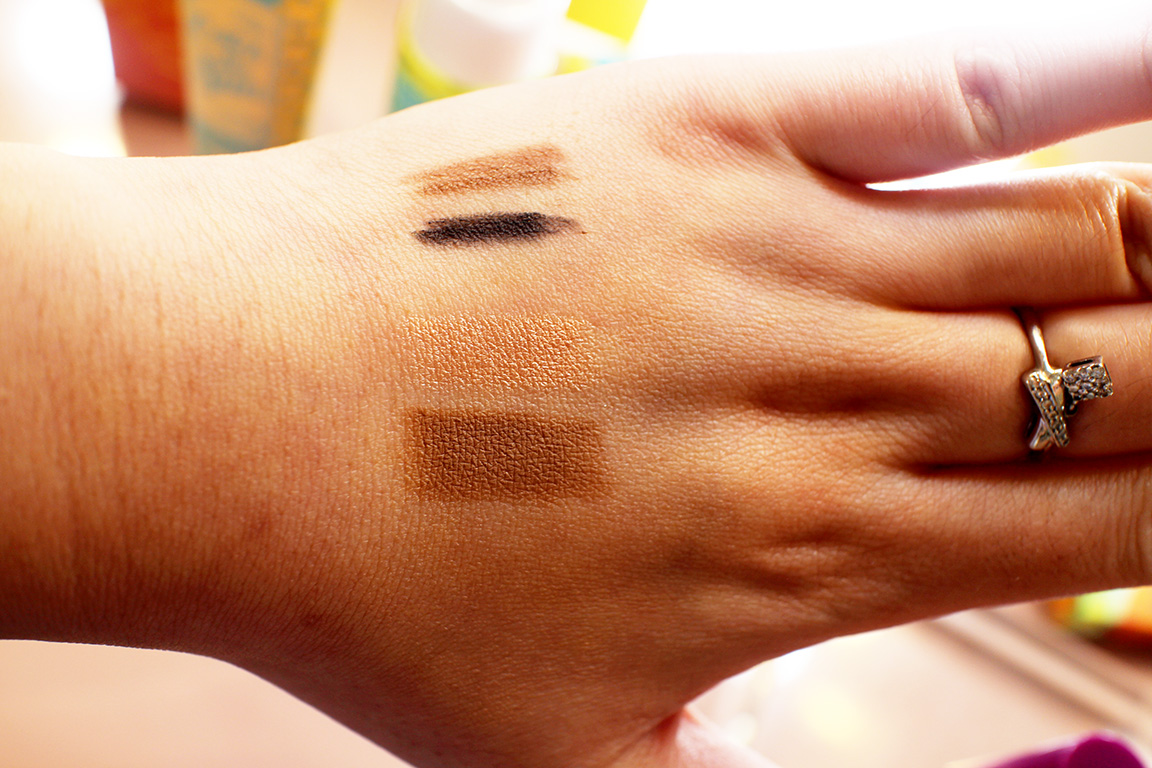 Eyeliners + Contour Stick and Highlight Stick Swatches