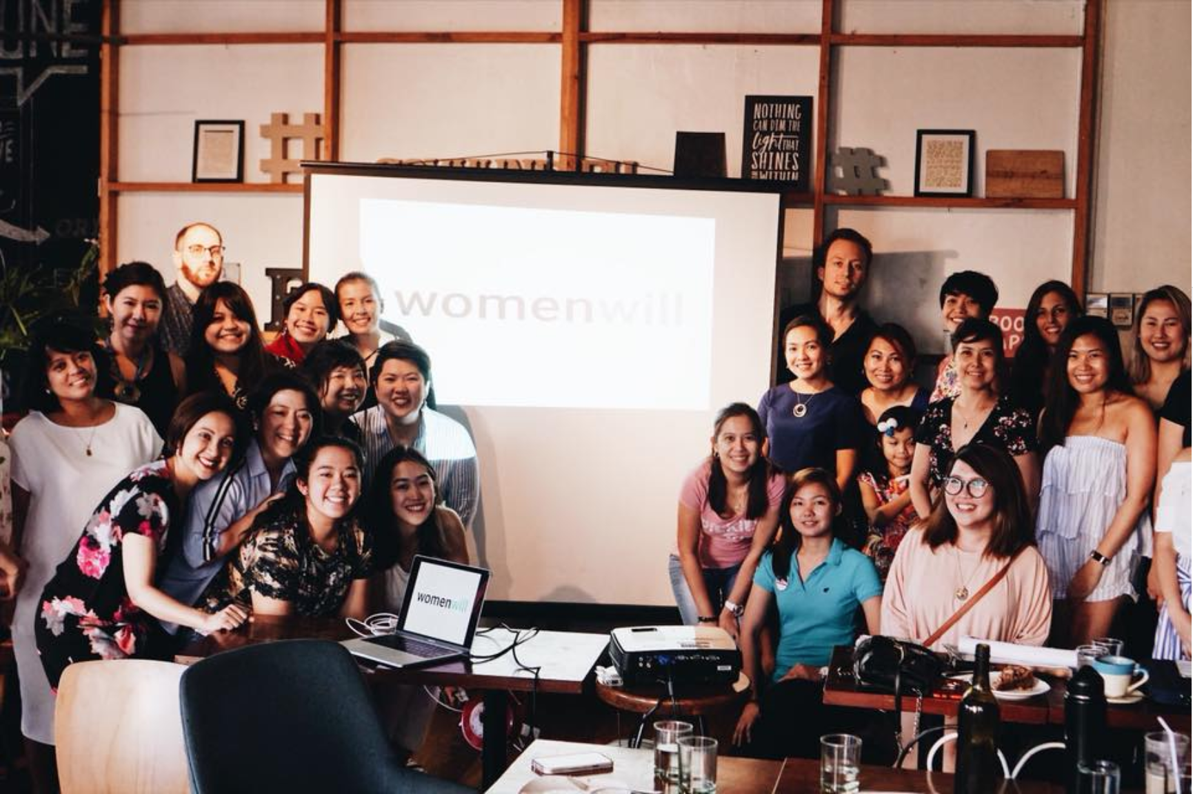 A group photo from a powwow with women entrepreneurs at Womenwill MNL in Commune Poblacion
