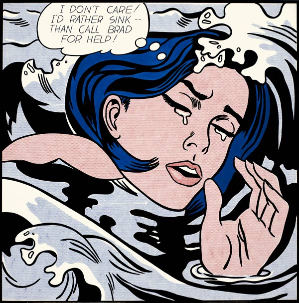 Roy Lichtenstein,  Drowning Girl , 1963