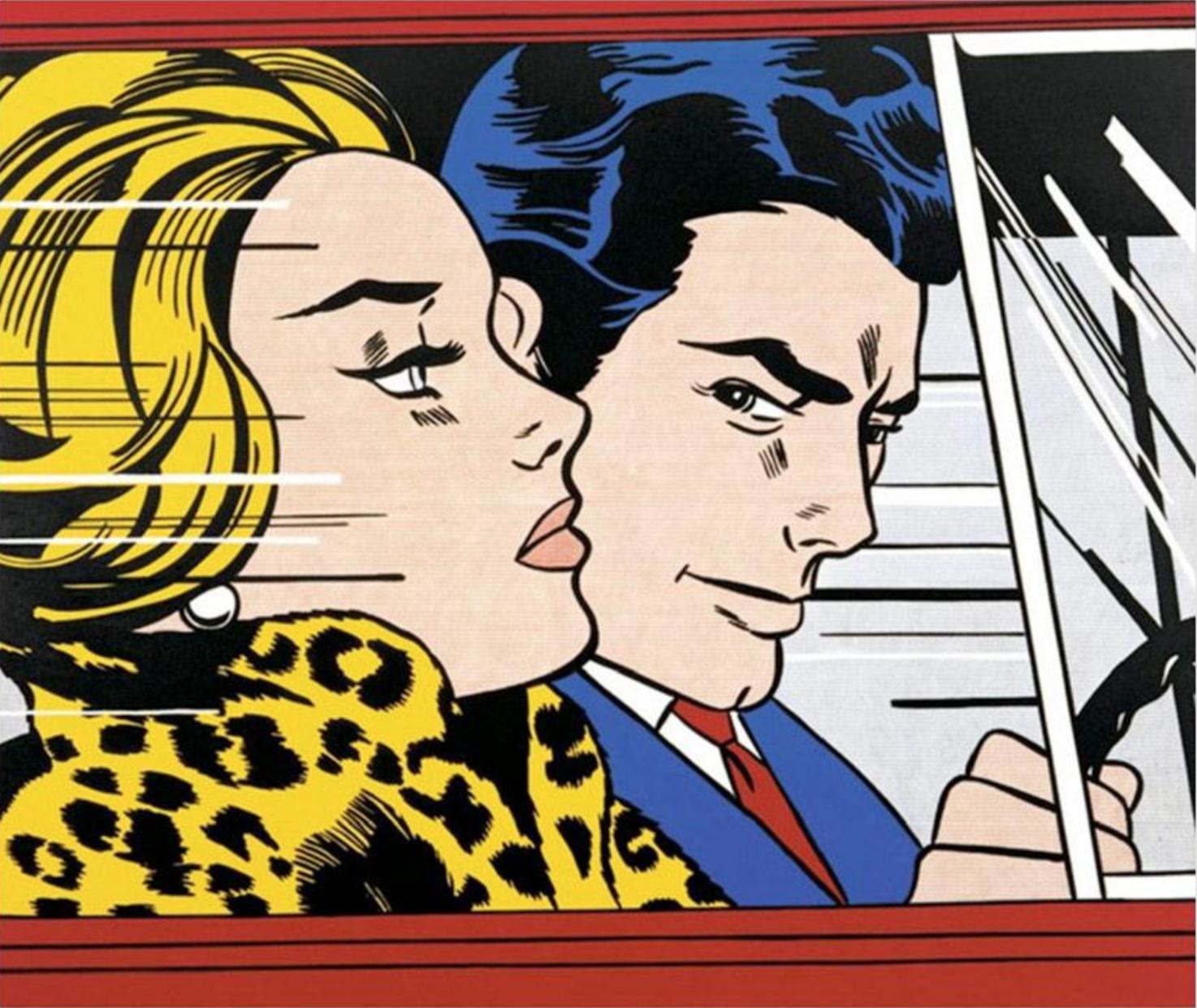 Roy Lichtenstein,  In the Car , 1963