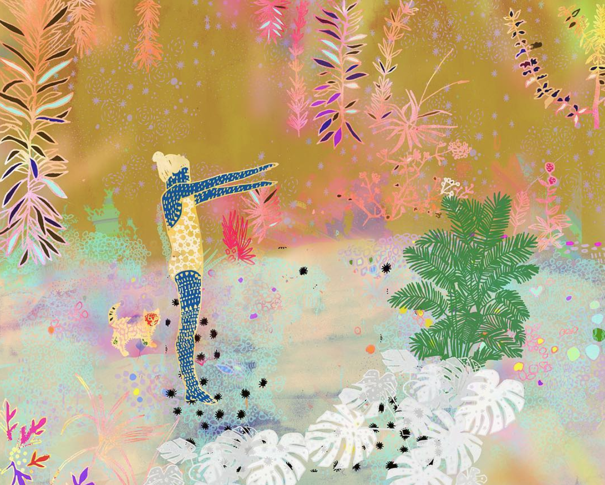| Artist Spotlight   Emma Repp   Emma Repp is best known for illustrative, bright, and highly patterned portrayals of monotony and adaptation. Originally trained as a printmaker, she employs a similar calculated process and layered aesthetic to create whimsical images out of a combination of handmade and digital elements, but chooses to create with whatever she can find.   Read More