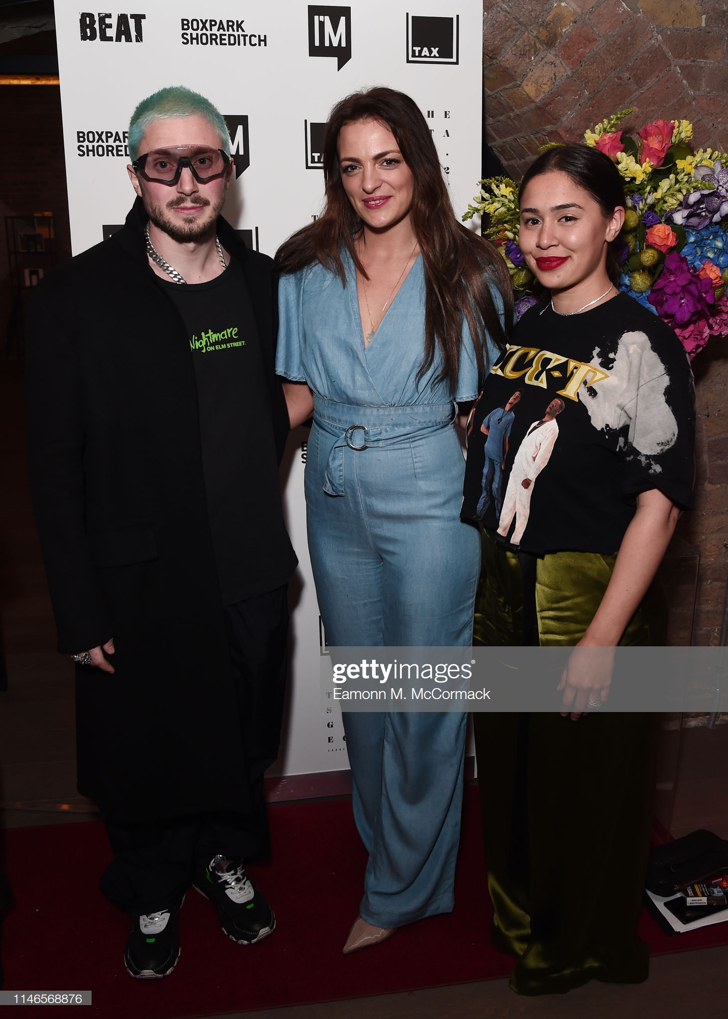 "LONDON, ENGLAND - MAY 02: Thomas Webb, Caroline Argirakos and Eve De Haan during ""Futurama"" exhibtion by the TAX Collection at Imitate Modern on May 02, 2019 in London, England. (Photo by Eamonn M. McCormack/Getty Images) LONDON, ENGLAND - MAY 02: Thomas Webb, Caroline Argirakos and Eve De Haan during ""Futurama"" exhibtion by the TAX Collection at Imitate Modern on May 02, 2019 in London, England. (Photo by Eamonn M. McCormack/Getty Images)"