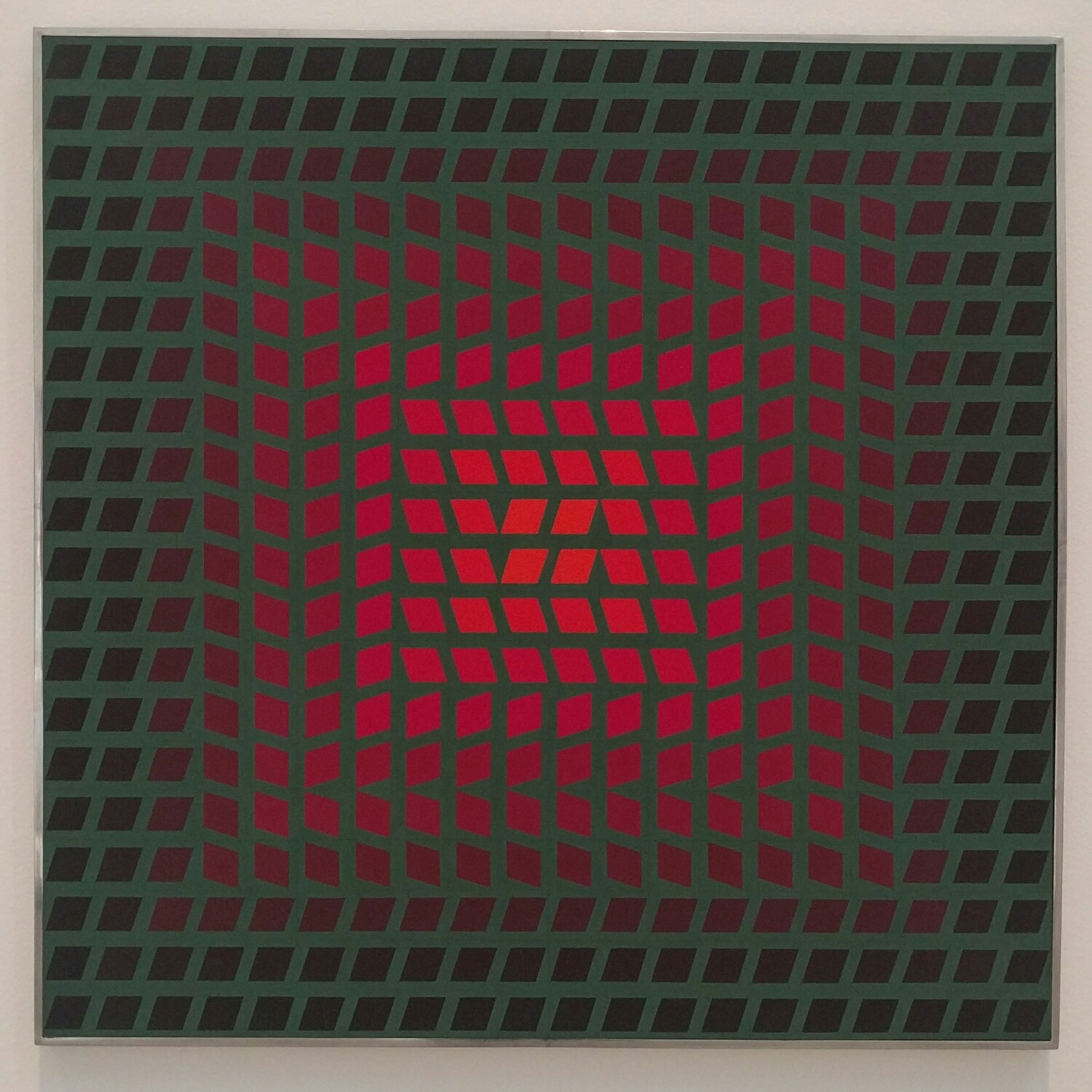 Paraj, 1965.  Victor Vasarely- t  empera on panel.