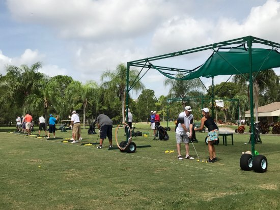 Driving Range - The driving range is about 275 yards long and is comprised of grass and matted hitting stations and fairway bunker practice area.