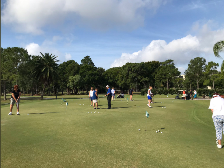 Putting andChipping Green - The putting green is comprised of 1,000 square feet of undulating terrain that gives players the ability to practice every putt and chip imaginable.