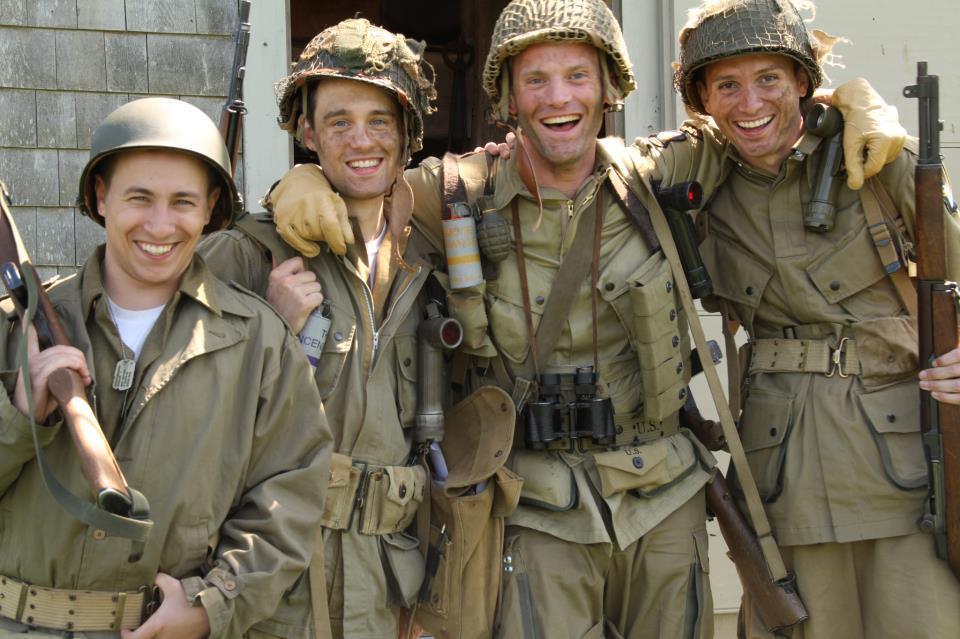 Production still from  Half Pint , a World War II historical short film