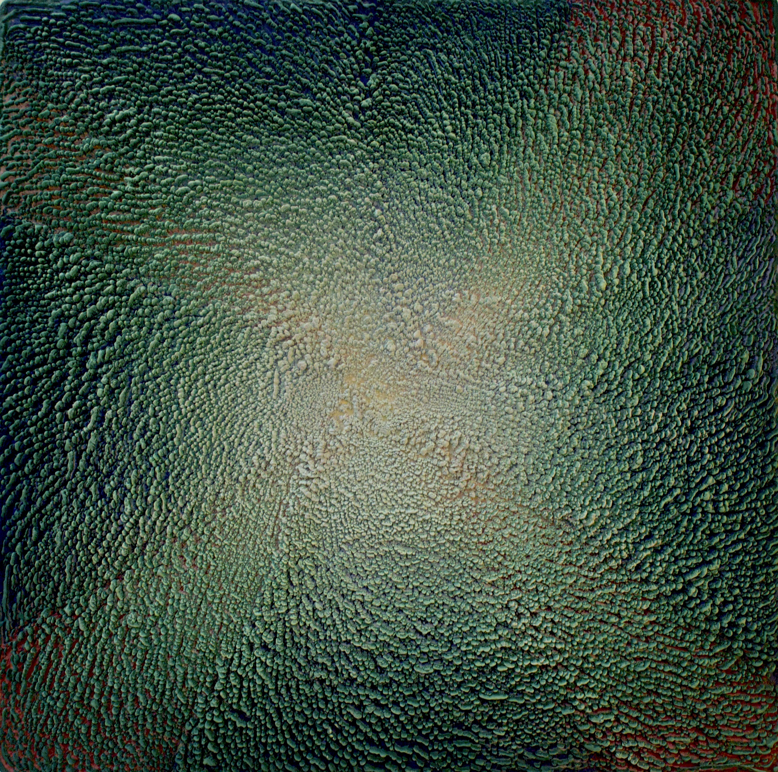 Rowena Boyd   The Cosmic Egg , 2016  Encaustic on board  98 x 98cm
