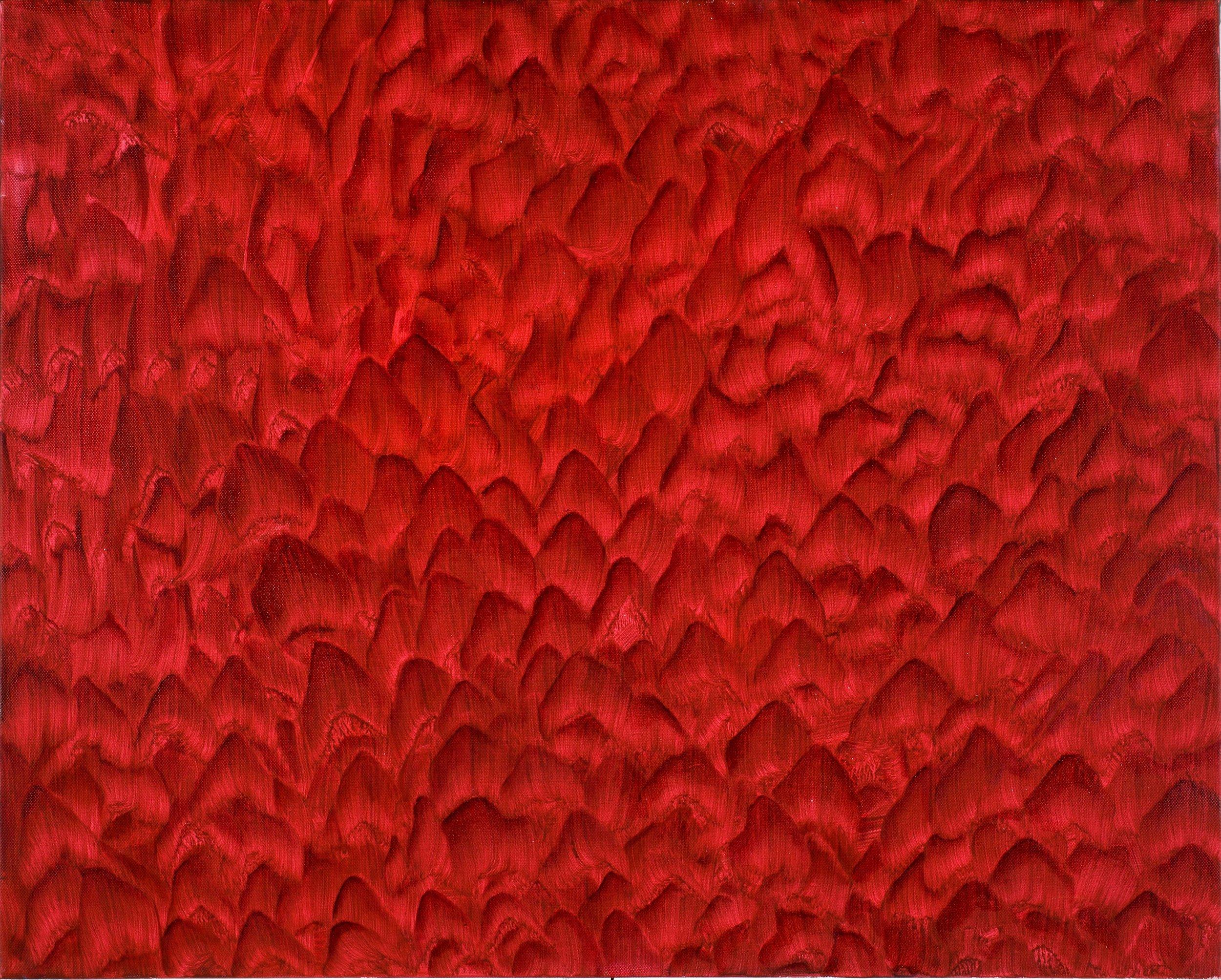 Rowena Boyd   Shuffle , 2011  Oil and acrylic on canvas  72 x 85cm