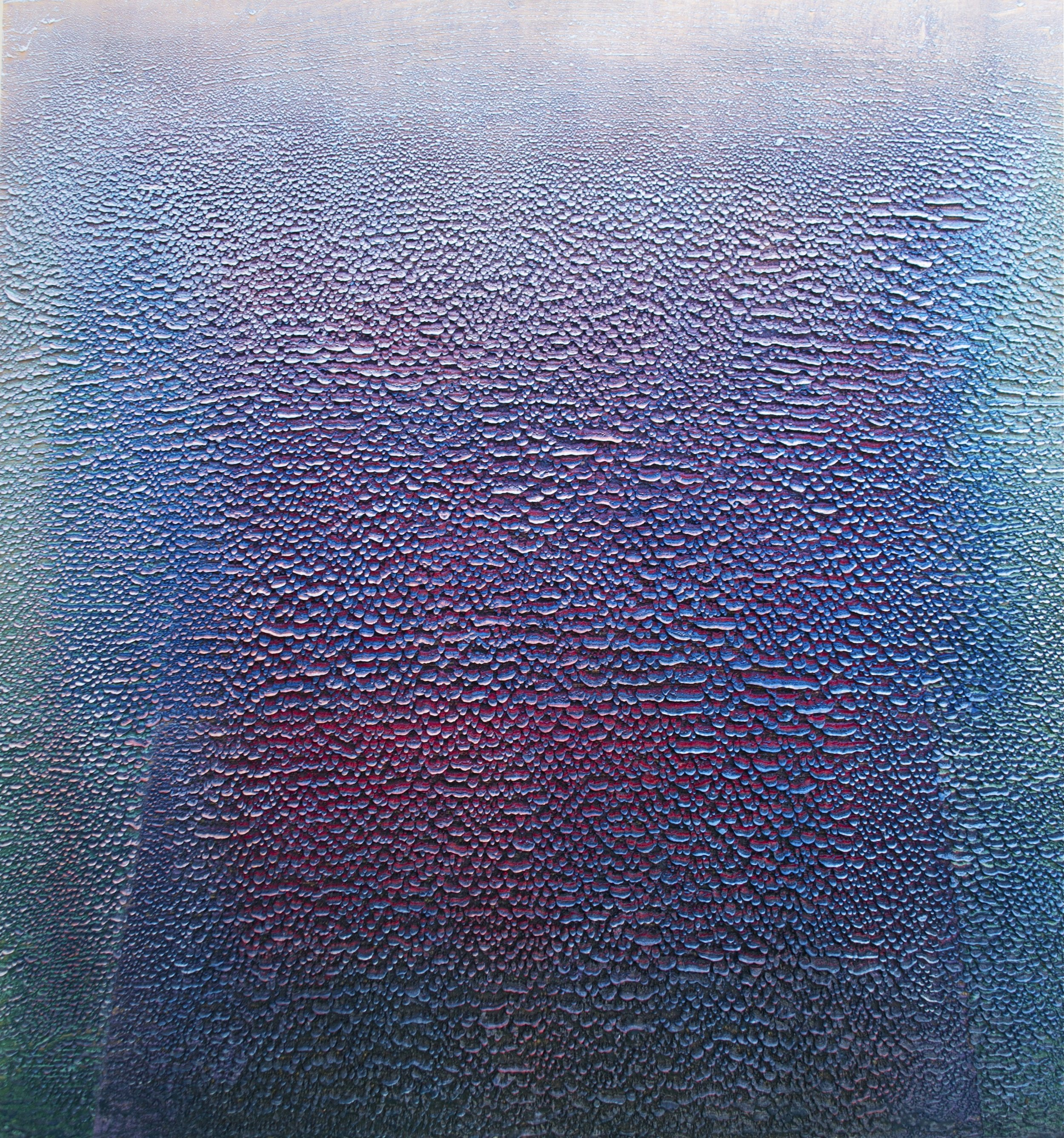 Rowena Boyd   Punta Cometa , 2018  Encaustic on board  85 x 80 cm
