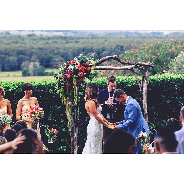 """"""" I cant even tell you how many times I have heard how amazing you were! All our guests loved the ceremony. Zac and I cant thank you enough. You are so chilled, professional and just an awesome celebrant.  Thank you again!"""" Xavier & Carolina (March, 2015)"""