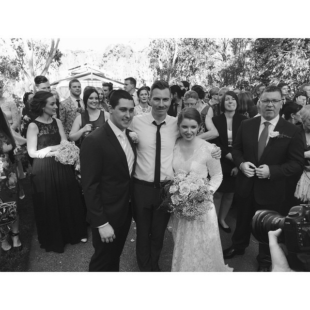 """""""Dave was an absolute superstar in the lead-up to and the day of our wedding. He is the coolest cat of a marriage celebrant that ever lived and we couldn't have asked for a more professional, fun and beautiful-spirited gentleman to marry us!"""" Lesley & Jeremy (May, 2015)"""