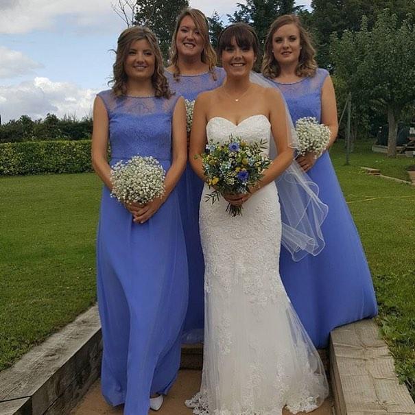 Bride, Bridesmaids and bouquets