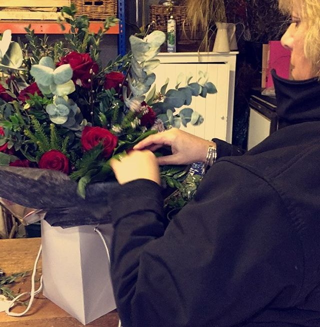 Valentine's was full of red roses and smiling women! Xx