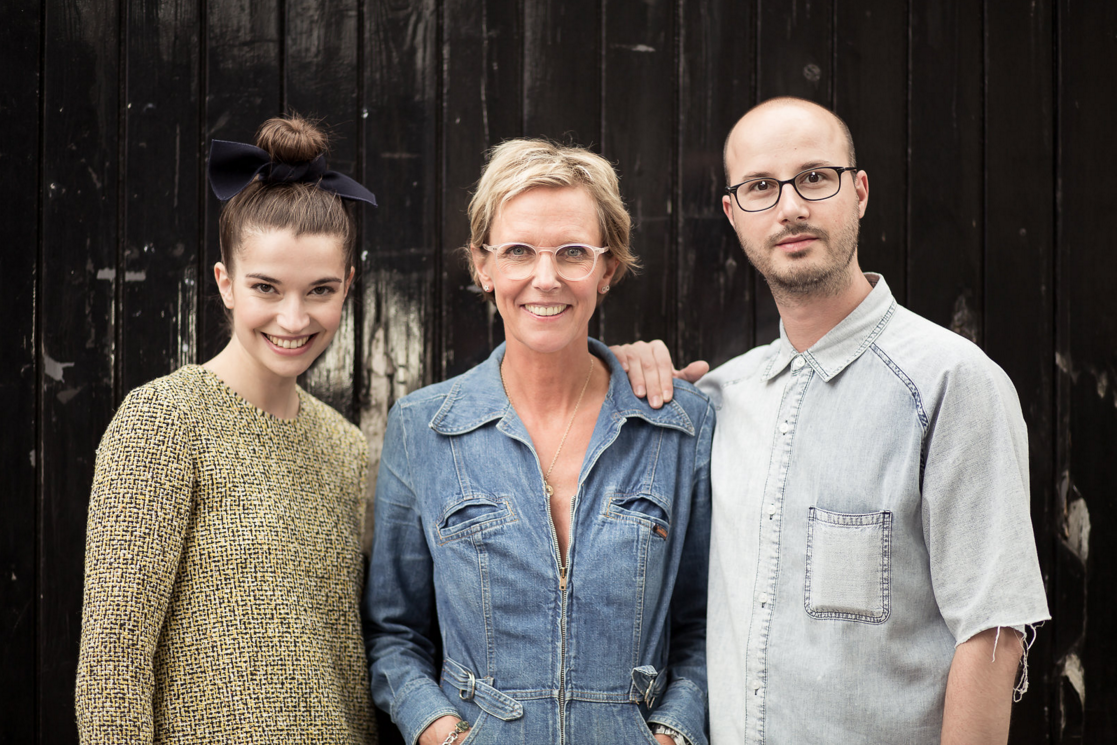 PETAR ON SET OF THE AW15 CAMPAIGN WITH MARGARET CLUNIE AND FOUNDER, JET SHENKMAN