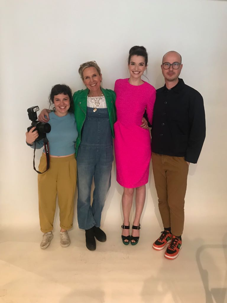 Margaret with Creative Director and Founder Jet, designer Petar, and photographer Ellie during our SS18 shoot