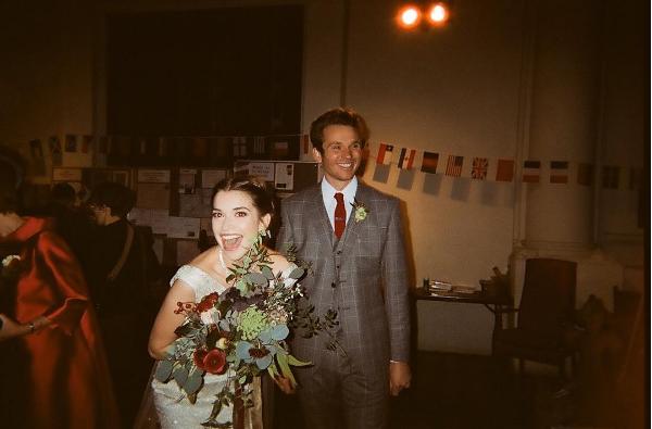 Margaret wearing her Eponine wedding dress in 2016