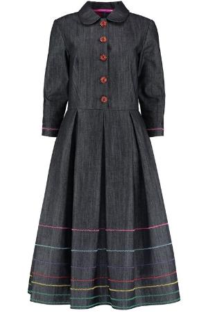 The Eponine Denim Shirtwaister Dress